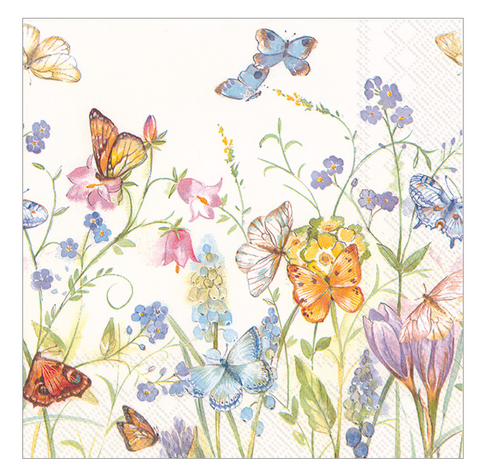 Cocktail Napkins - Butterflies and Blossoms