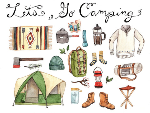 Art Print - Let's Go Camping