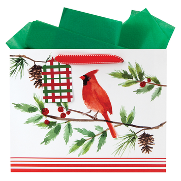 Gift Bag - Christmas Cardinal - Medium Vogue