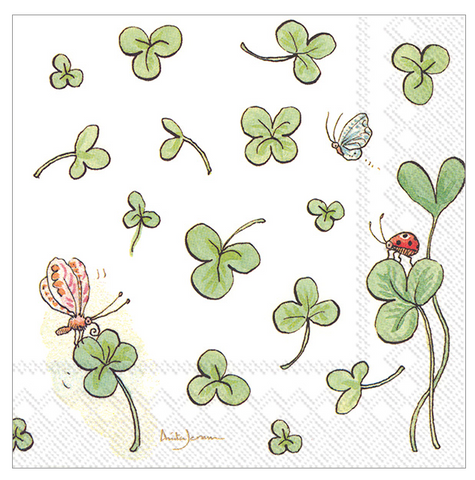 Cocktail Napkins - Clovers