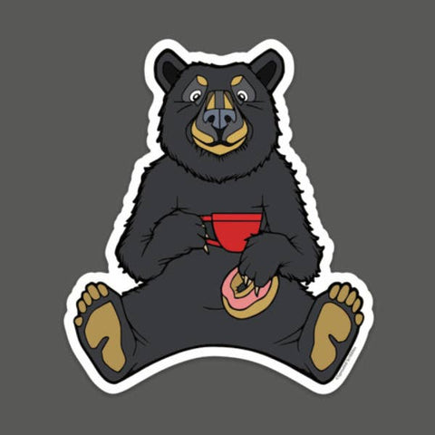 Vinyl Sticker - Coffee Bear