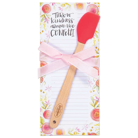 Notepad and Mini Spatula Gift Set - Confetti