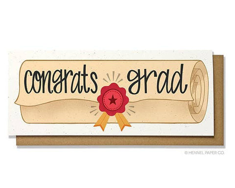Graduation Card - Congrats Grad Money Holder