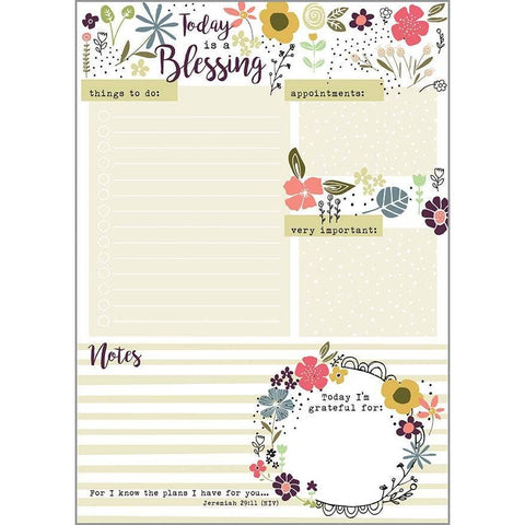 Daily Planner Notepad - Today is a Blessing