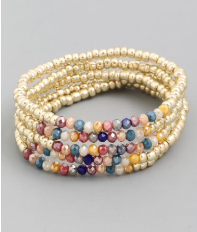 Dainty Beaded Stacking Bracelets