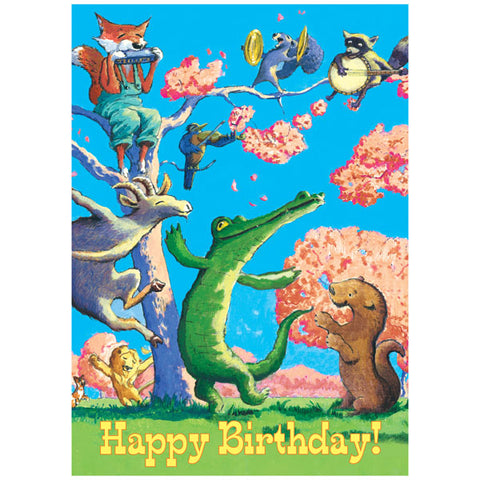 Kid's Birthday Card - Dancing Animals