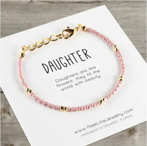 Dainty Beaded Bracelet - Daughter