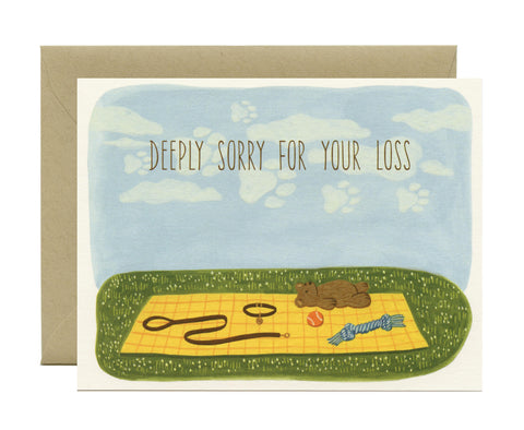 Card - Deeply Sorry for Your Loss - Pet Loss