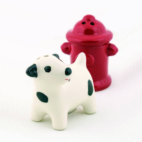 Dog & Hydrant Salt and Pepper Shakers