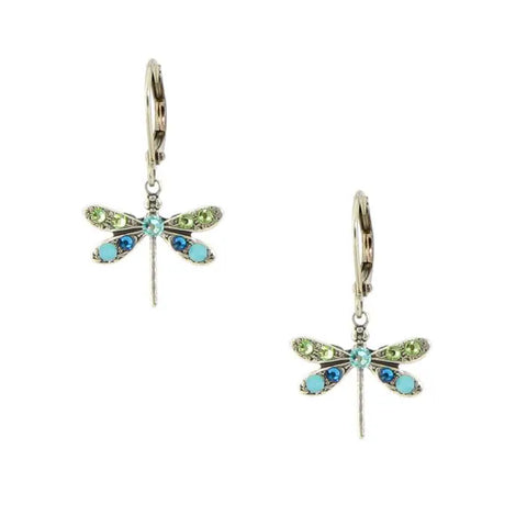 Dainty Jeweled Dragonfly Earrings