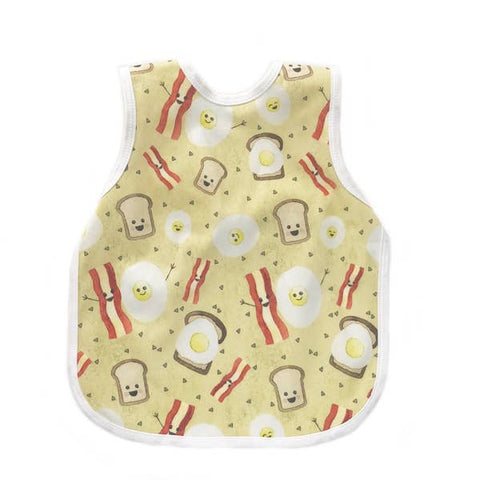 Baby Bib Apron - Eggs and Bacon