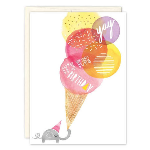 Birthday Card - Elephant Scoops
