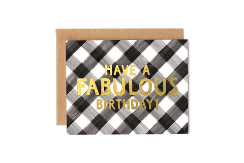 Card - Plaid Fabulous Birthday