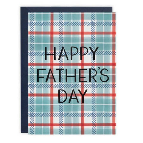 Father's Day Card - Plaid