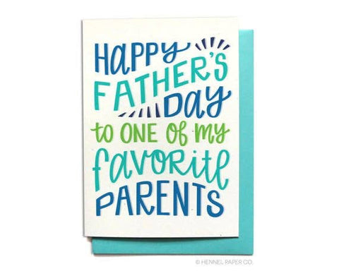 Father's Day Card - Favorite Parents