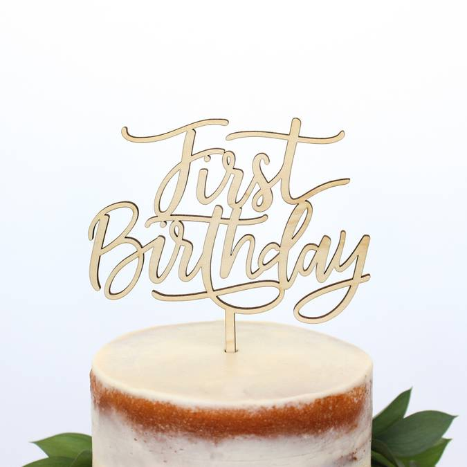 Terrific First Birthday Cake Topper Gifted Boutique And Wrappery Funny Birthday Cards Online Alyptdamsfinfo