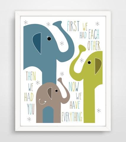 Children's Art Print - Now We Have Everything
