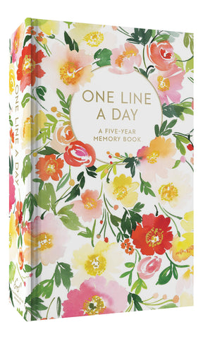 Floral One Line a Day Journal