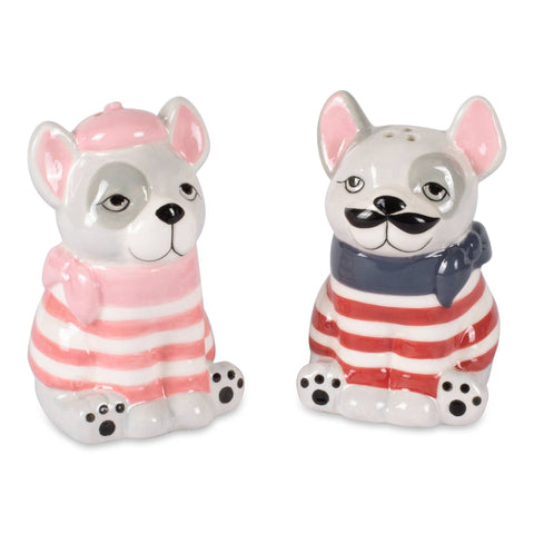 Frenchies Salt and Pepper Shaker Set