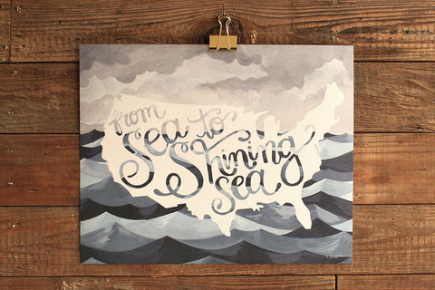 From Sea to Shining Sea Art Print