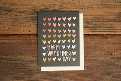 Happy Valentine's Day Card - Hearts
