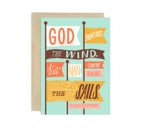 Card - God Provides the Wind