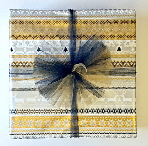 Holiday Gift Wrap Service - Gold and Black