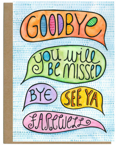 Goodbye Card