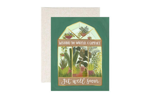 Get Well Soon Card - Greenhouse