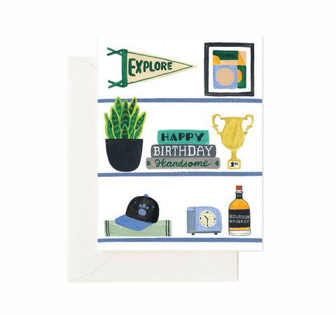 Card - Happy Birthday Handsome Shelfie