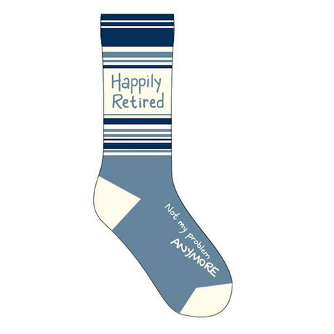Funny Socks - Happily Retired