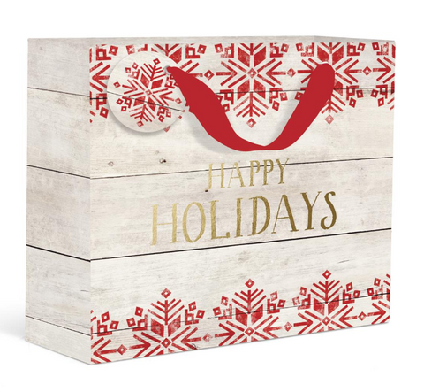 Rustic Happy Holidays Gift Bag