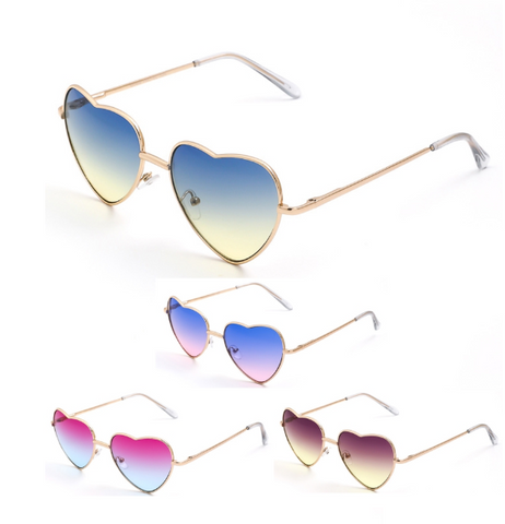 Heart Ombre Aviator Sunglasses