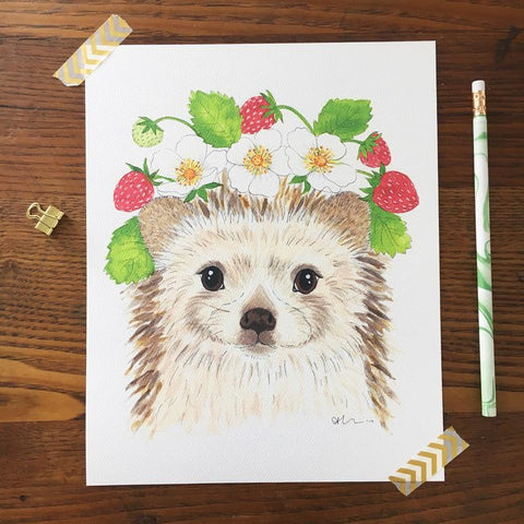 Art Print - Hedgehog