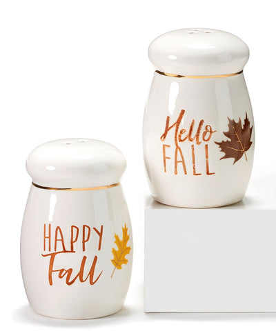 Hello Fall Salt and Pepper Shakers