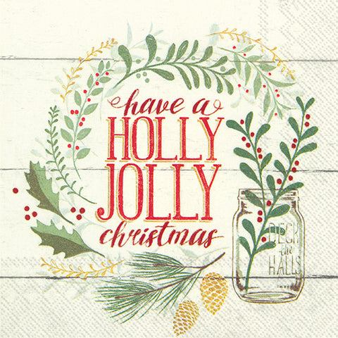 Lunch Napkins - Holly Jolly Christmas