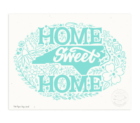 Art Print - Home Sweet Home - North Carolina