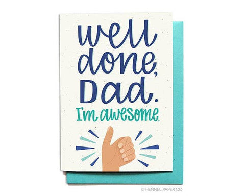 Father's Day Card - I'm Awesome
