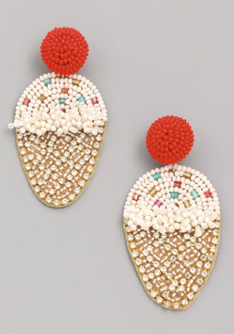 Ice Cream Beaded Earrings