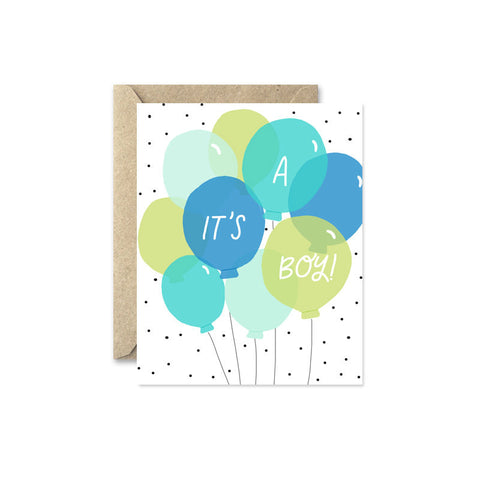 New Baby Card - It's a Boy!