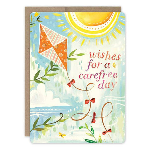 Birthday Card - Kite Carefree Day
