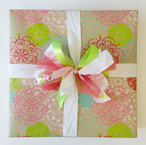 Holiday Gift Wrap Service - Happy Snowflakes