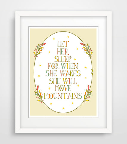 Children's Art Print - Let Her Sleep