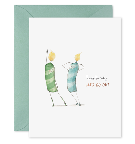 Birthday Card - Let's Go Out