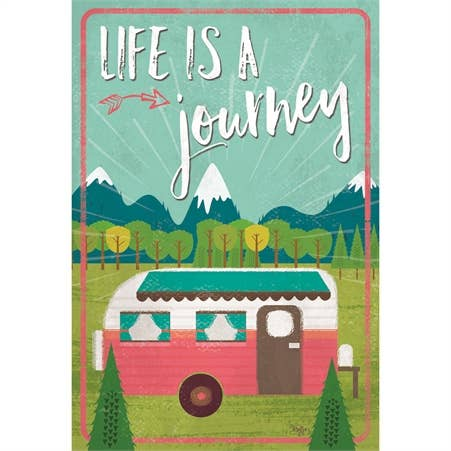Garden Flag - Life is a Journey Camper