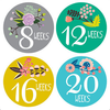 Pregnancy Belly Stickers - Flowers