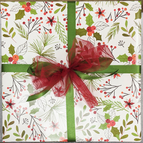 Holiday Gift Wrap Service - Ivory Holly