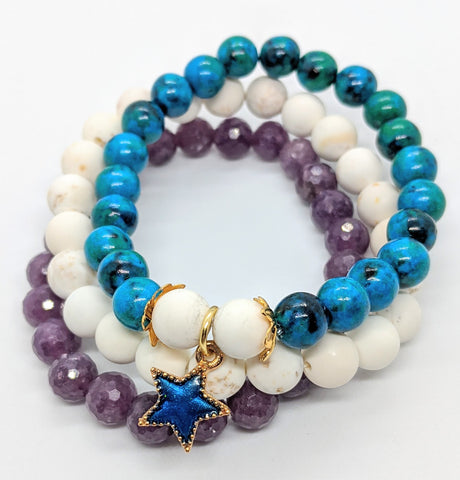 Star Stacking Bracelet Set