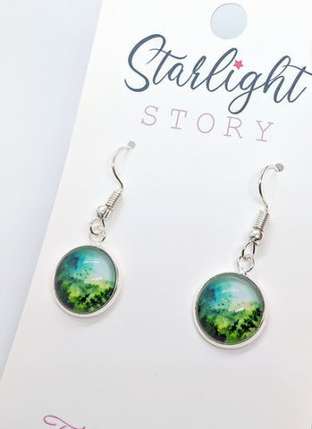 Green Mountain Glass Earrings