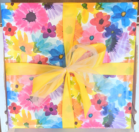 Gift Wrap Service - Bright Floral